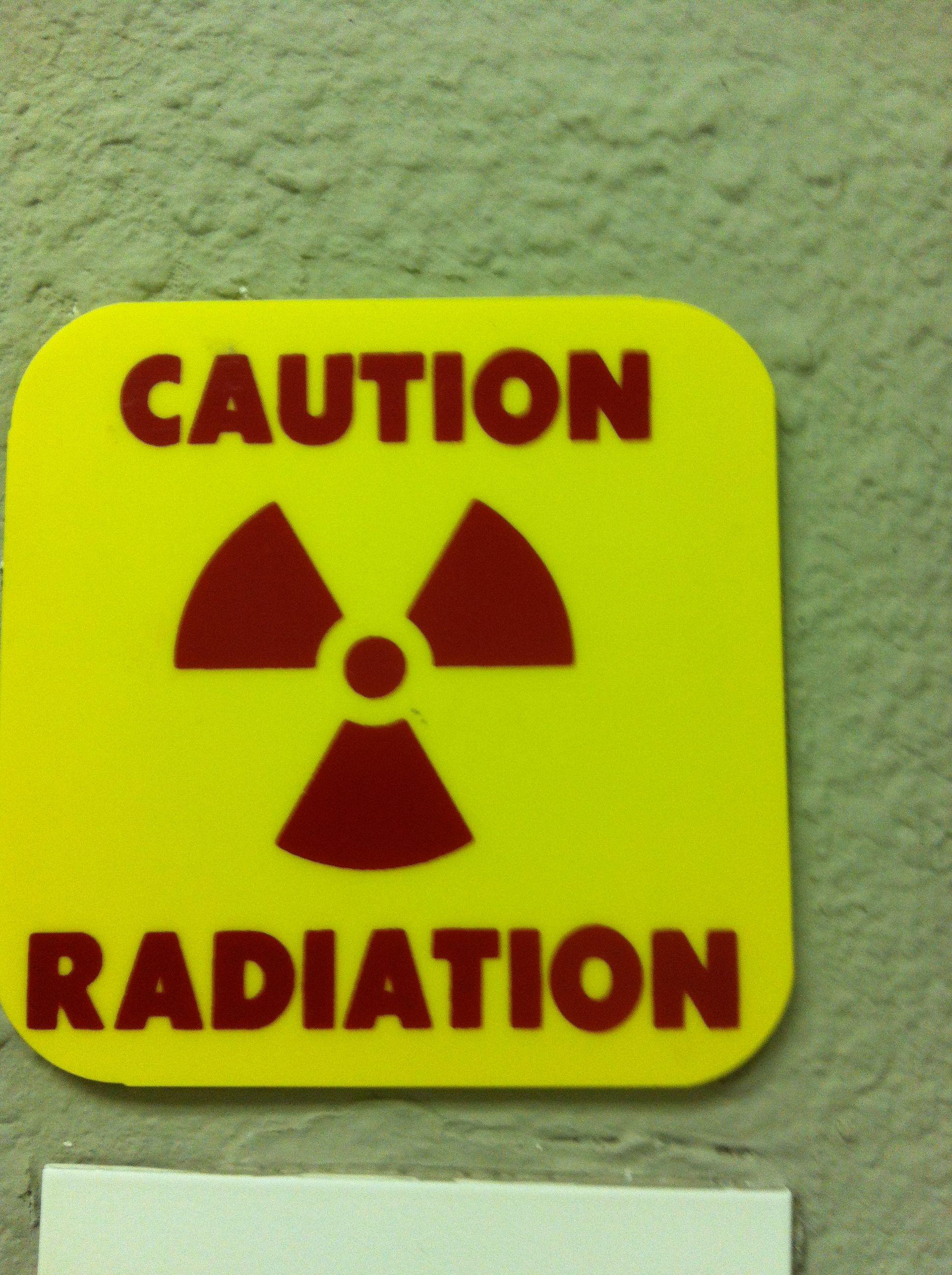 Caution Radiation sign Dental