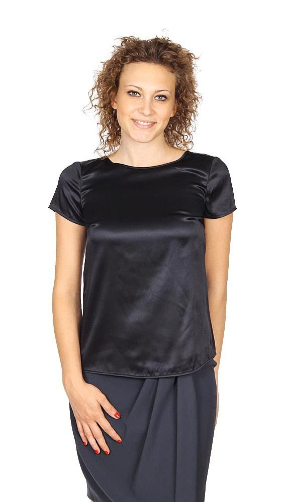 Armani Collezioni Ladies Shirt Short Sleeve Without Buttons Rmc05t