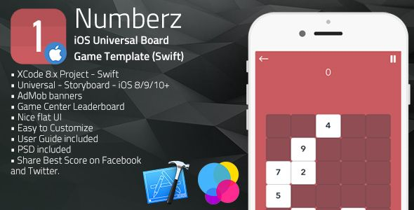 NUMBERZ | iOS Universal Board Game Template (Swift) | Code-Scripts ...