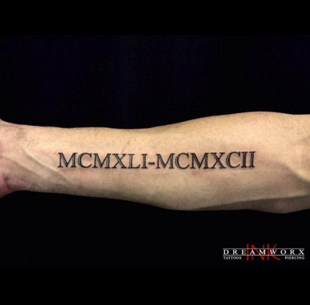 36 Exquisite Roman Numeral Tattoo Designs Best Roman border=