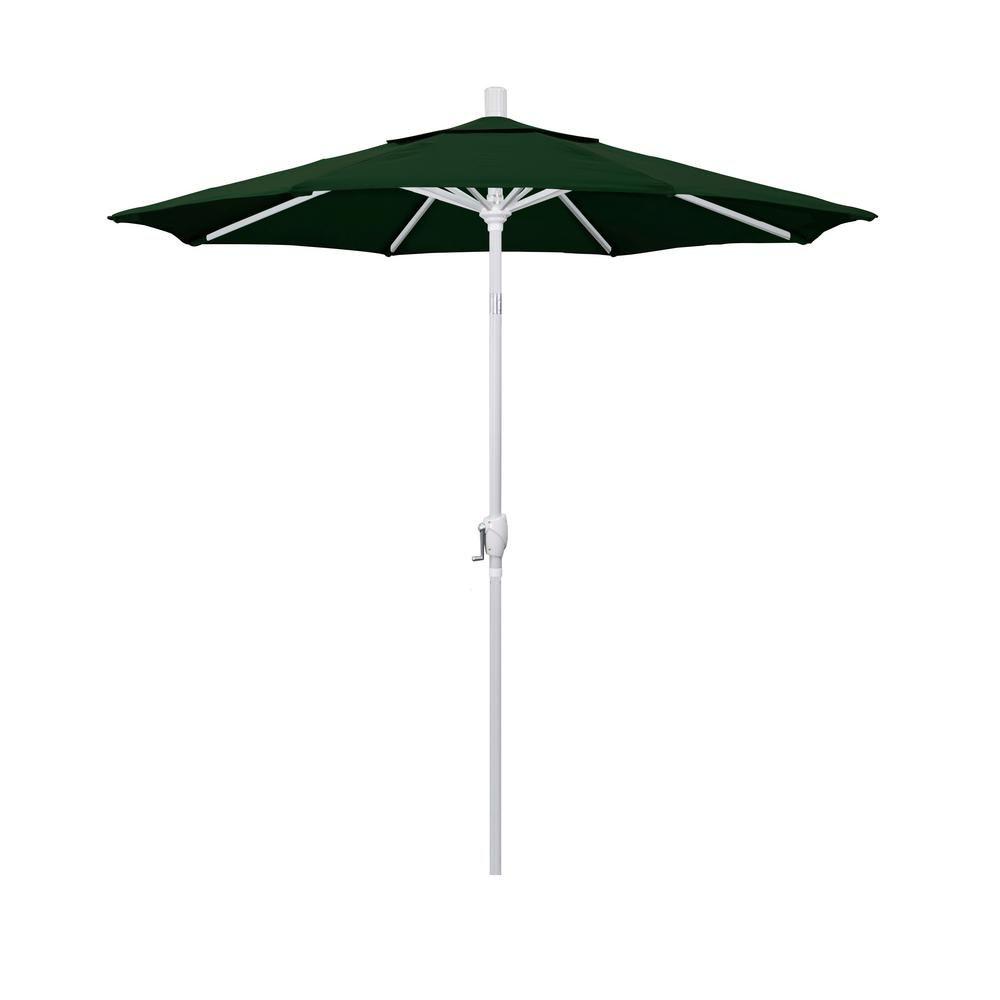 California Umbrella 7 5 Ft Matted White Aluminum Market Patio