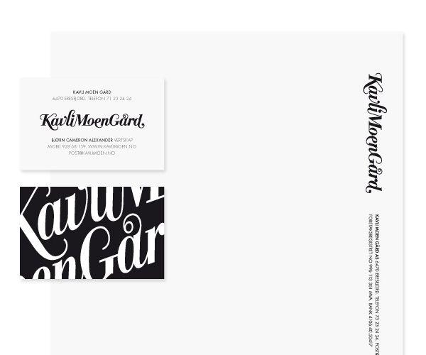 Translation House Corporate Stationery Design: New Brand Identity For Kavli Moen Gård - BP&O