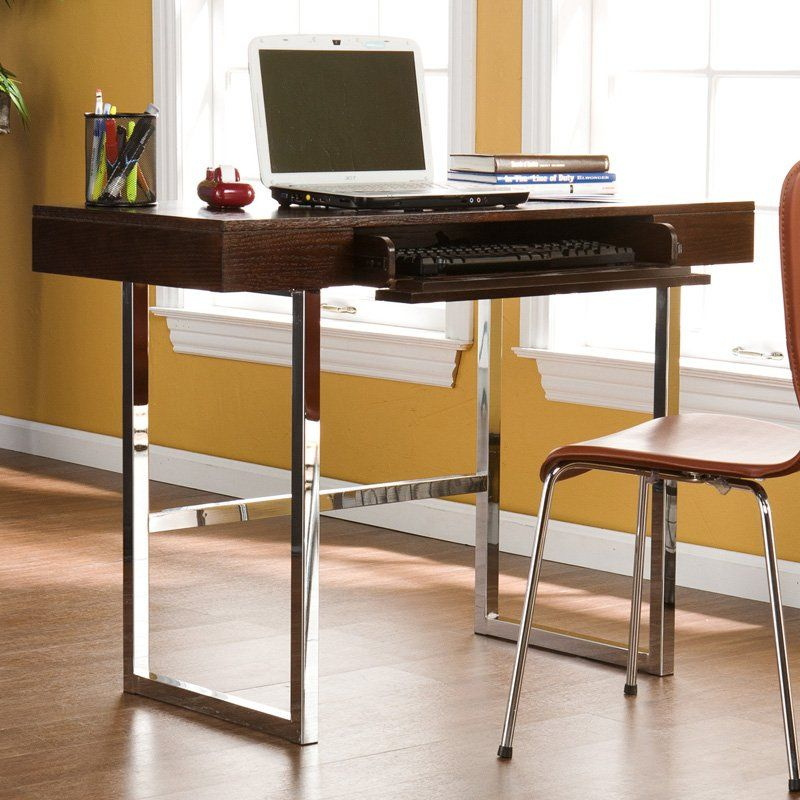Brooklyn Desk Espresso And Chrome