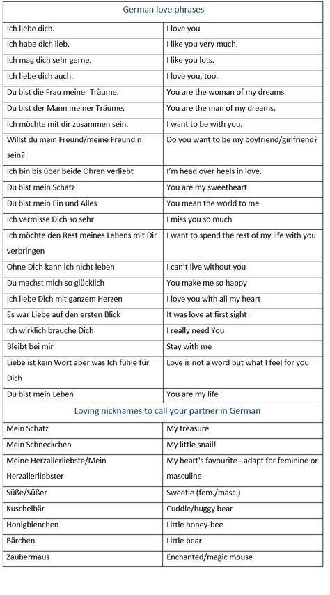 How To Say I Love You In German German Love Phrases Loving Nicknames To Call Your Partner In German L German Language Learning Learn German German Phrases