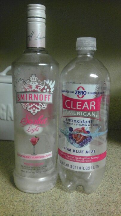 The flavored sparkling water has 0 sugar, caffeine, calories, or sodium.  Plus you won't get a hangover because you're drinking water the whole time  you're ...