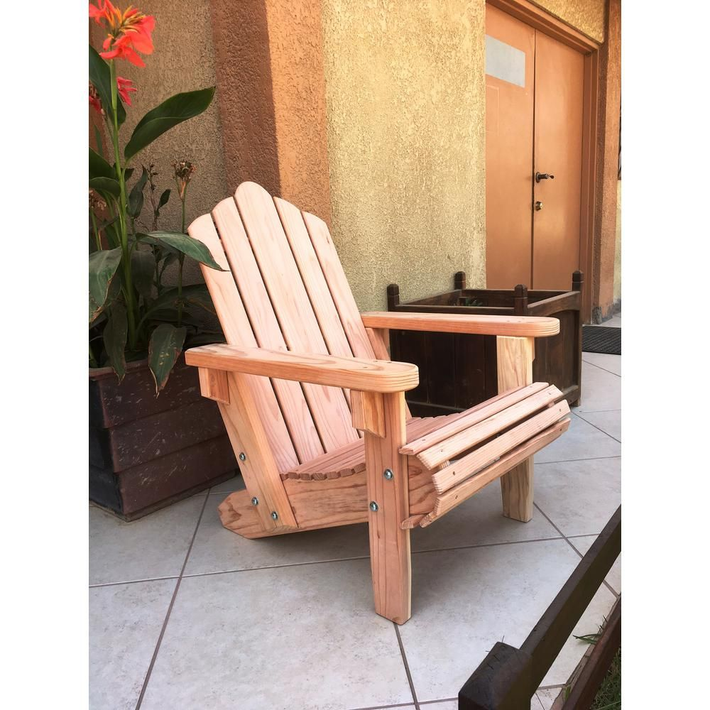 Best Redwood Outdoor Natural Unfinished Redwood Adirondack Chair Furniture Rustic Furniture Outdoor Chairs