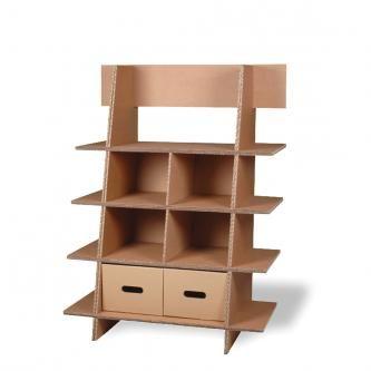 mobilier etag re triple paisseur en carton. Black Bedroom Furniture Sets. Home Design Ideas