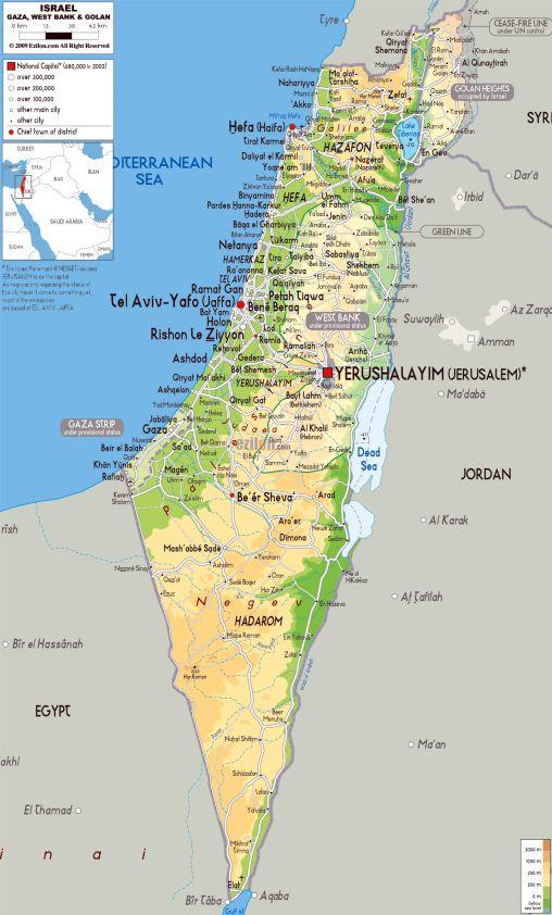 Cartina Fisica Palestina.110 Idee Su Israele Israele Viaggio In Israele Gerusalemme