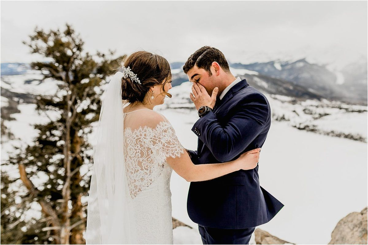 Photo of Rocky Mountain Breckenridge Colorado Invierno Elopement