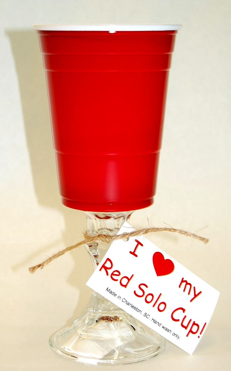 Red Solo Cup, I lift you up! Let's have a party..