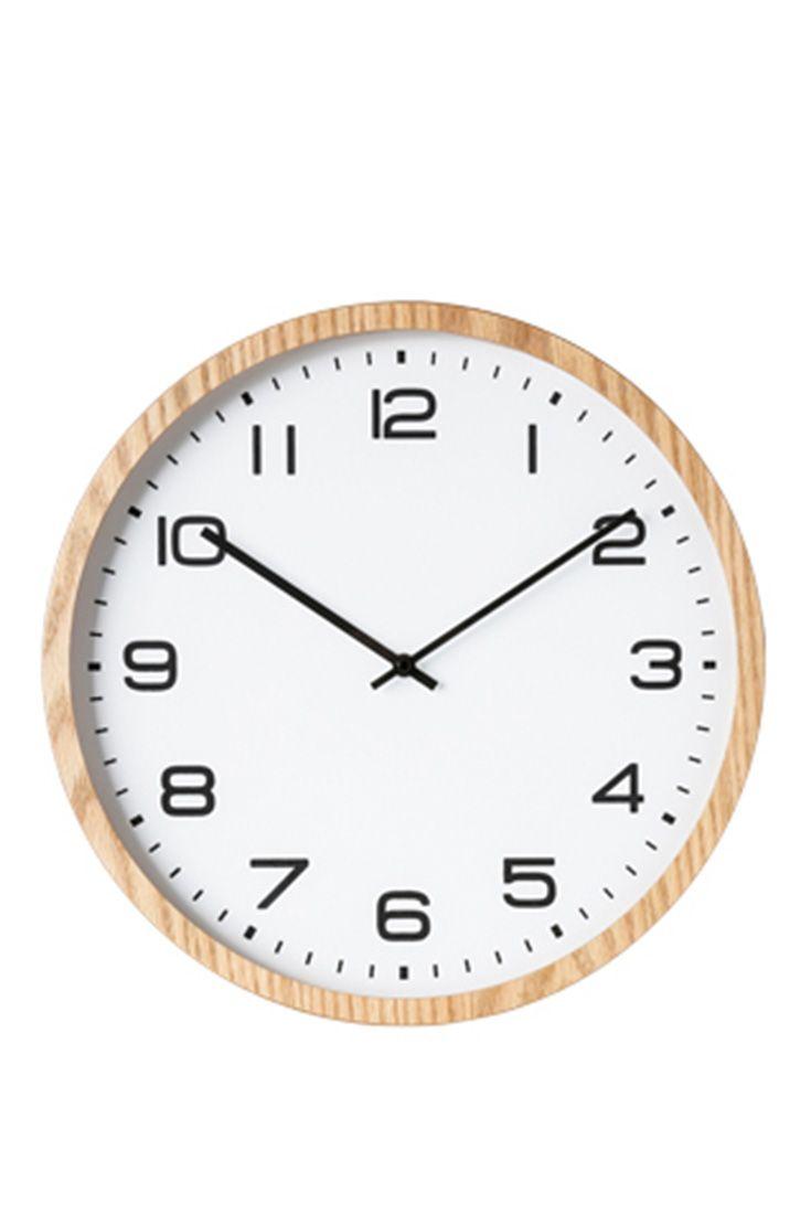 AUSTRALIA HOUSE & GARDEN Kingston Wall Clock, Wooden Frame - 40cm ...
