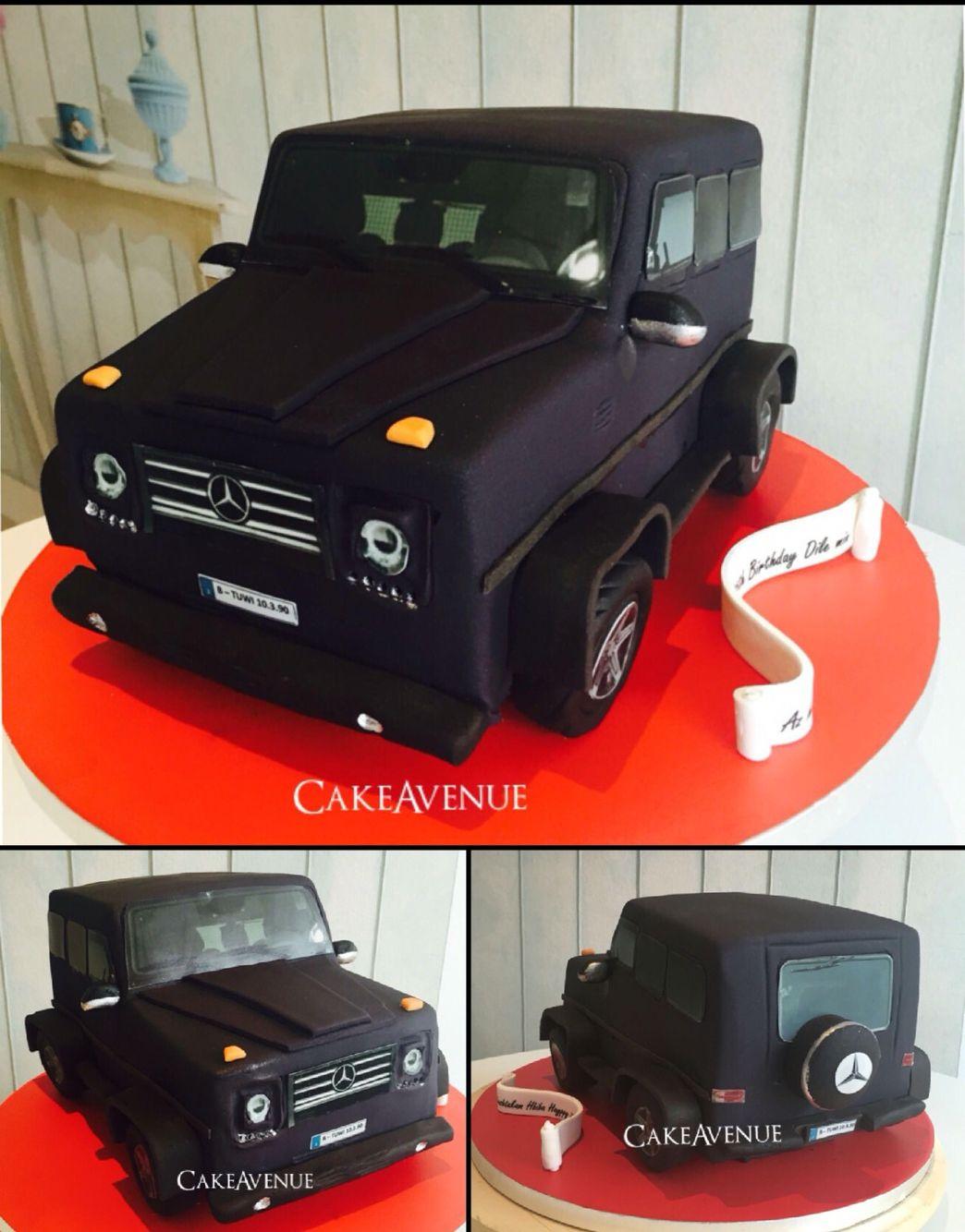 Car Fondant Cake Mercedes G Brabus Cakes Cake Fondant Und
