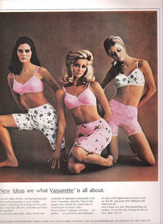 Image result for vintage lingerie ads