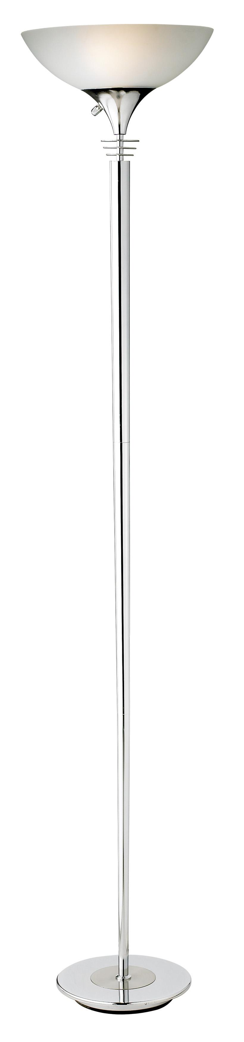 Metropolis Chrome Torchiere Floor Lamp M1267 Lamps