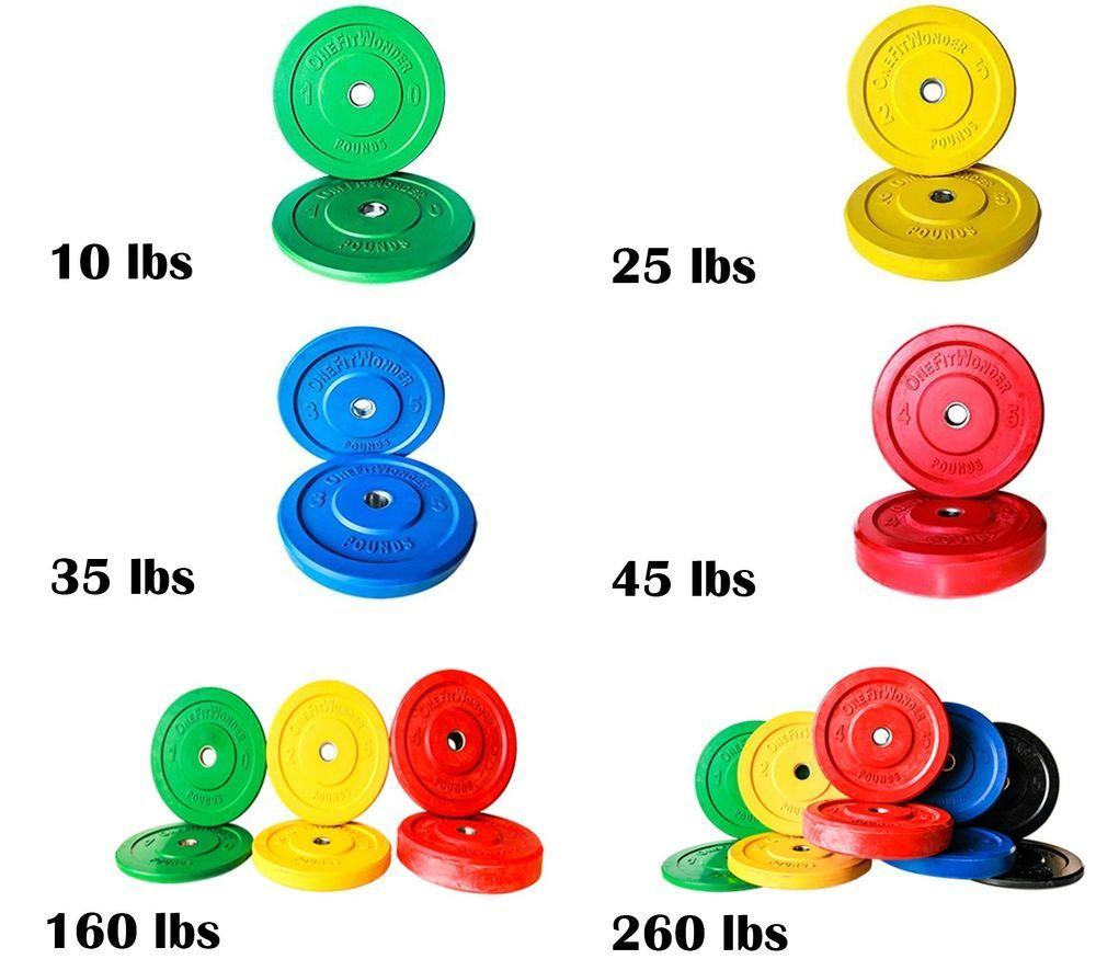 Details about Color Bumper Plate Pairs & Sets