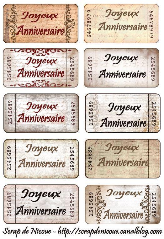 Une Carte D Anniversaire Pour Chantalou Scrap De Nicoue