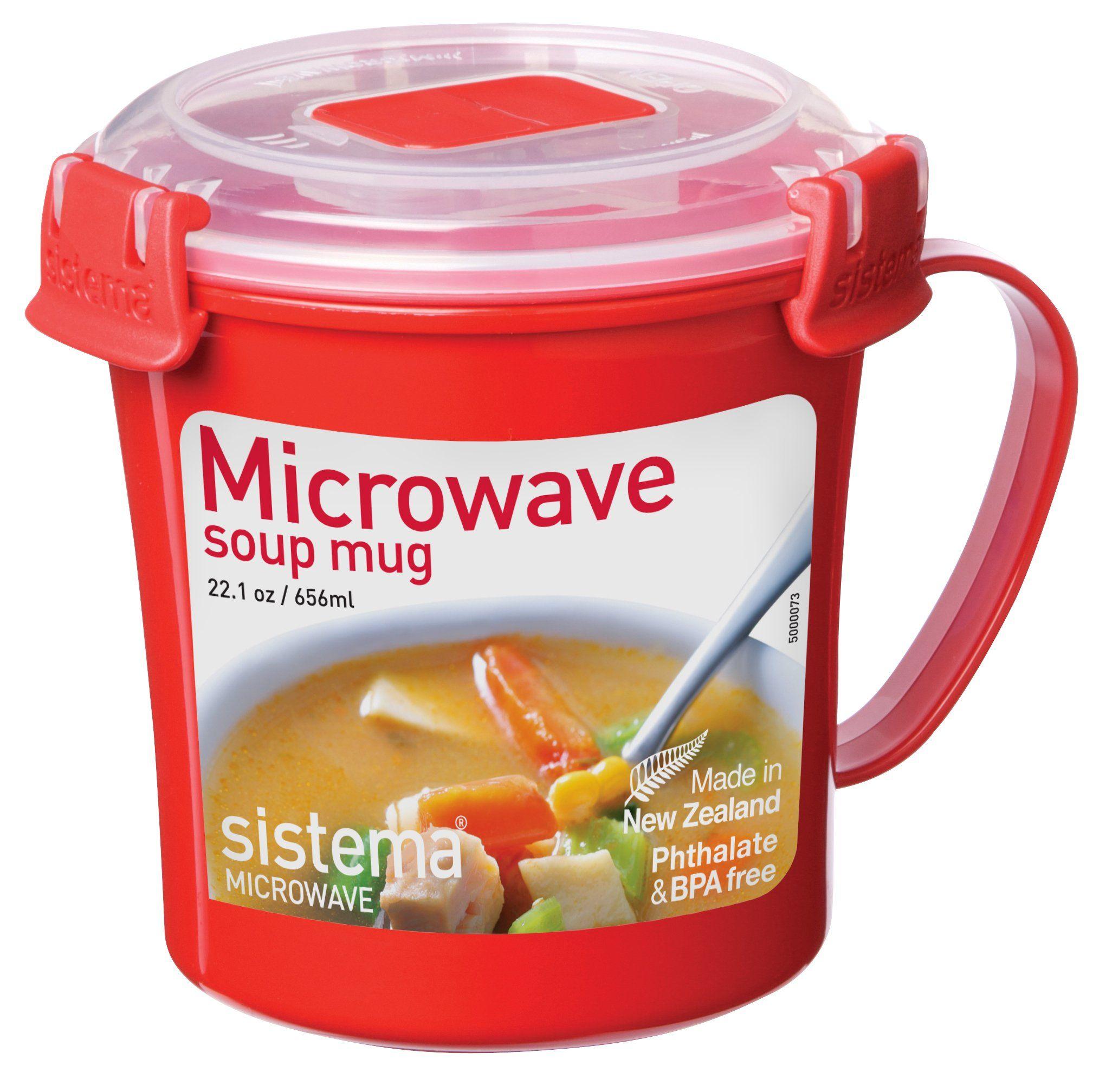 Sistema Microwave Soup Mug 22.1 oz / 656ml Made from