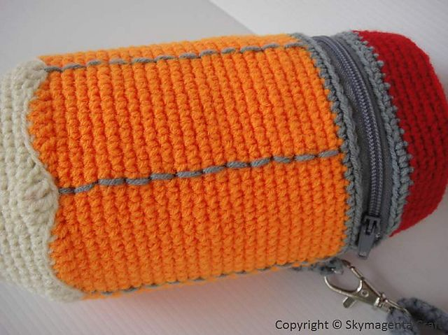 Ravelry: PENCIL - Pencil Case pattern by Sky Magenta