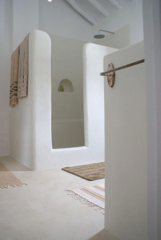 Idée Décoration Salle De Bain Crétois Et Simple : Chaux Pierre Et