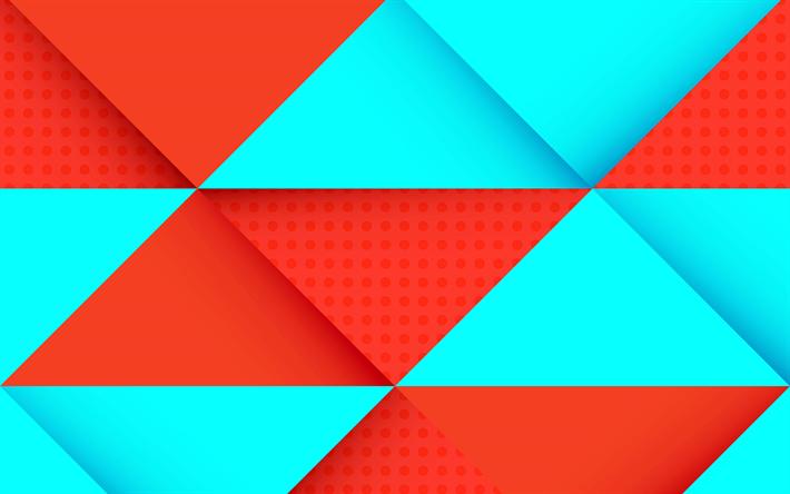 Download wallpapers 4k, rhombuses, geometry, strips