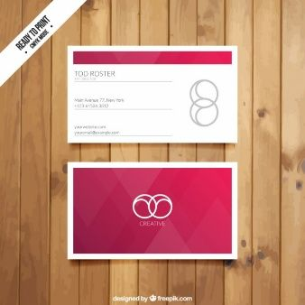 Visit card with red triangles