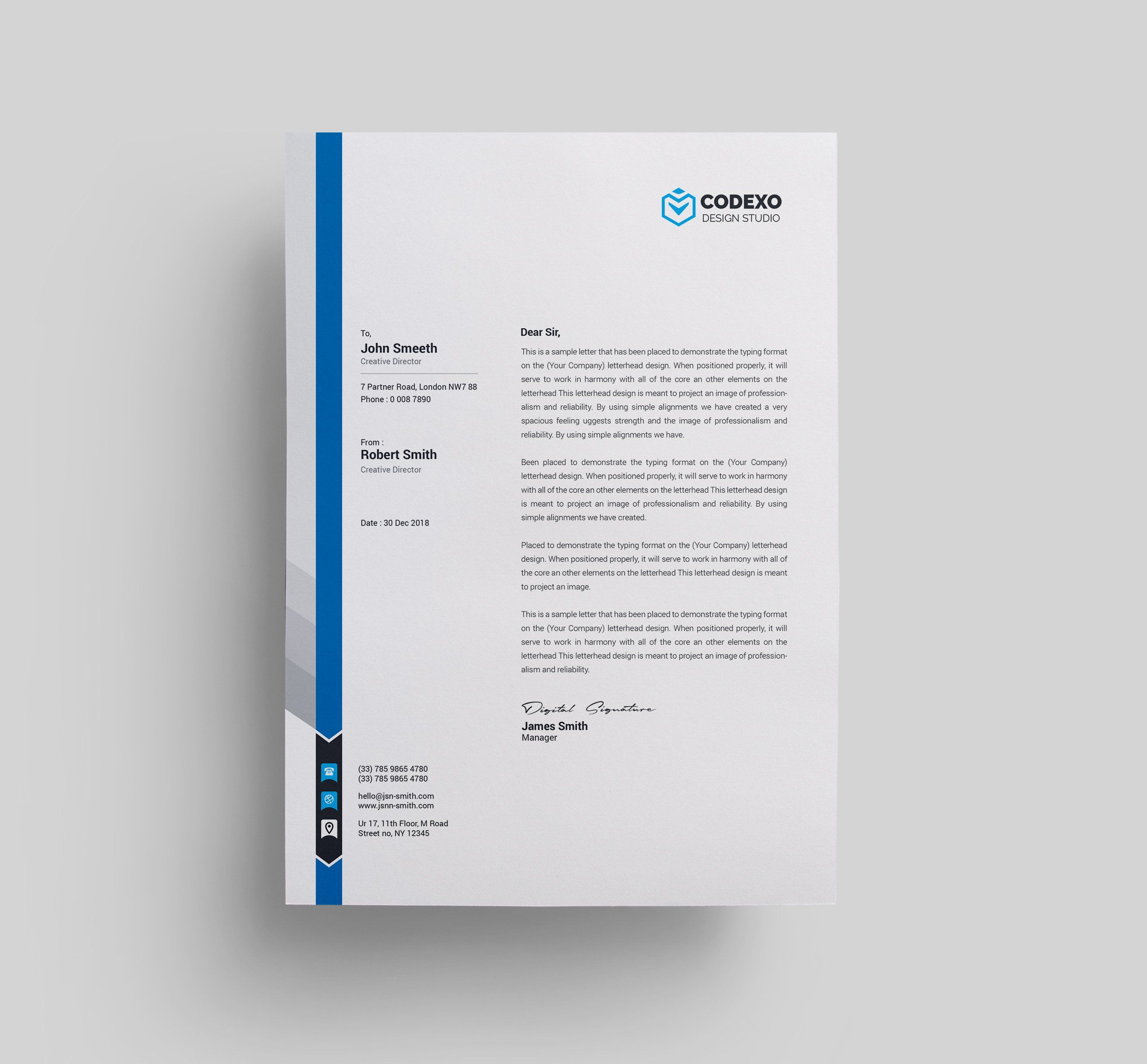 45 Free Letterhead Templates Examples Company Business
