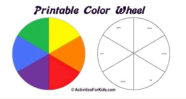 Printable Color Wheel Primary Secondary Colors Colours Color Wheel Projects Primary Color Wheel Colorful Art Projects