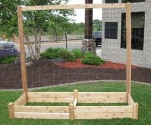 Cedar Raised Bed Trellis Kit 80 in H x 96 in W by Gronomics