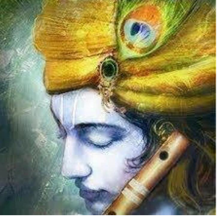 """""""The beauty of A pure Love..""""   Krishna painting, Painting ..."""