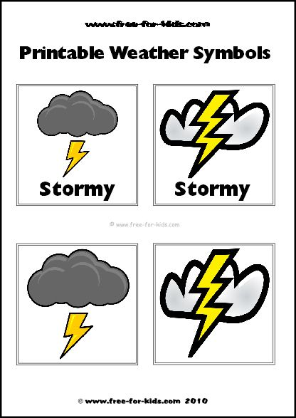 Thunder And Lightning Weather Symbols (With images