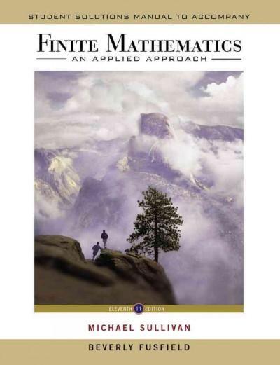 Finite Mathematics An Applied Approach Mathematics Michael Sullivan Digital Word