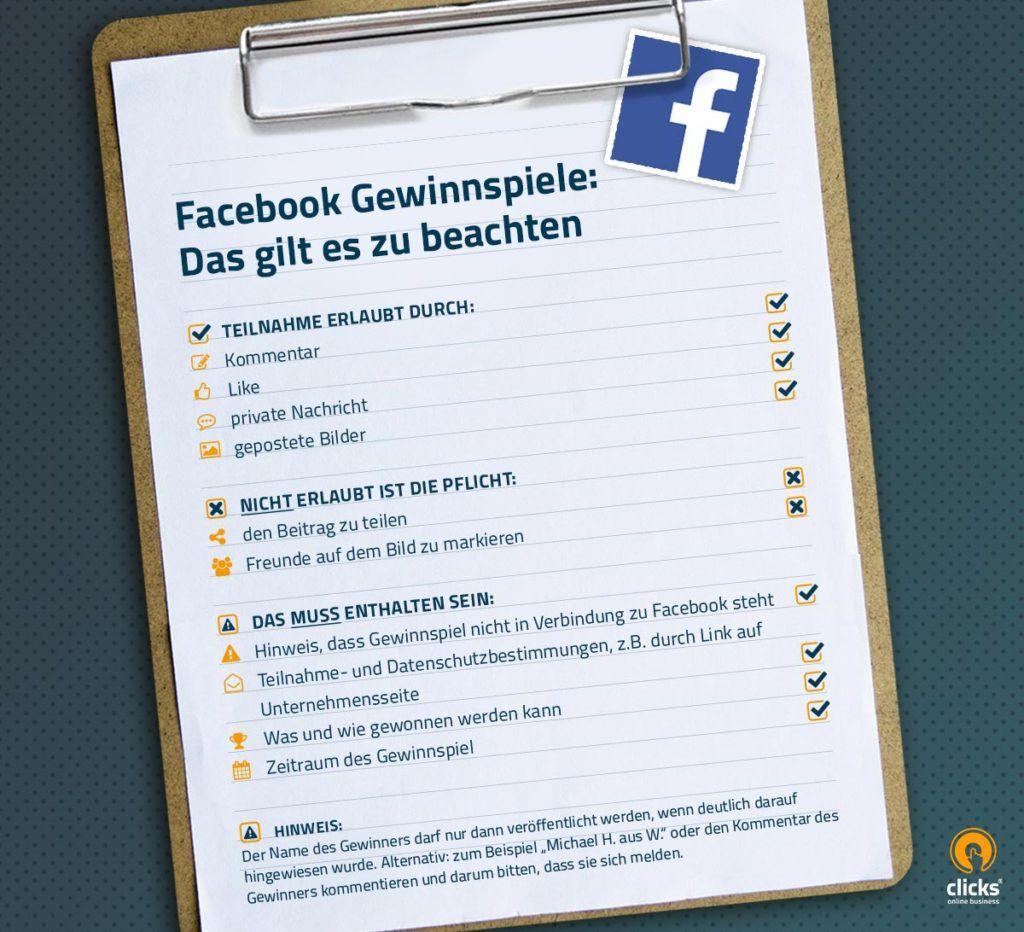 Gewinnspiel Facebook Richtlinien