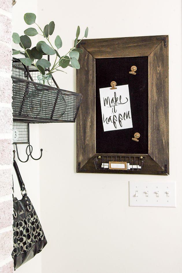 DIY Magnetic Chalkboard Message Board | Magnetic chalkboard, Message ...