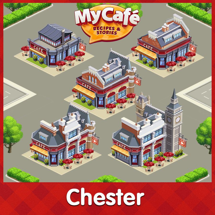 Chester Township Structures English Style Level 1 5 Mycafe Mycafegame Cafe Cafe Design Cooking Games