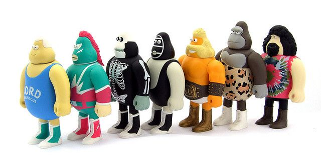 in crowd amos toys | The In-Crowd Wrestling Federation - James Jarvis - Amos Toys | Flickr ...