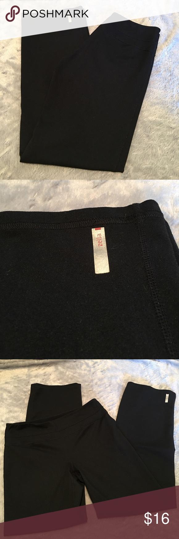 "Zella Yoga Pants Zella Black Yoga Pants. No label so no guarantee of size. Measures like a medium. Inseam 29"". Great condition. ❌No Trades❌ Proceeds go towards feeding the homeless❌ Zella Pants Boot Cut & Flare"