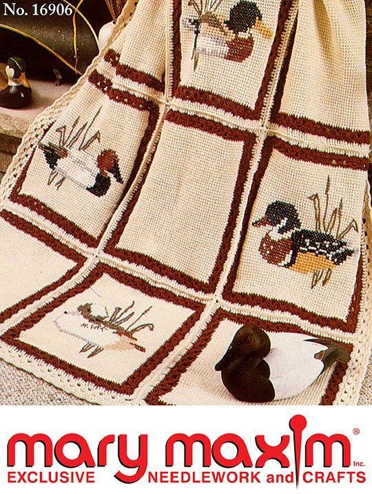 Crochet this afghan using Mary Maxim DK/Sport Weight yarn.   Crochet ...