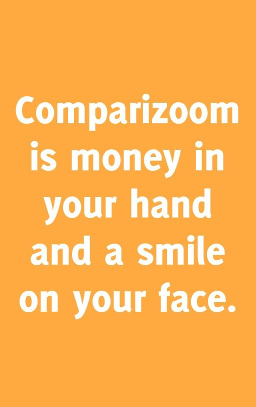 Comparizoom is great reason number 67 on Thursday, January 09, 2014 --- Comparizoom is money in your hand and a smile on your face