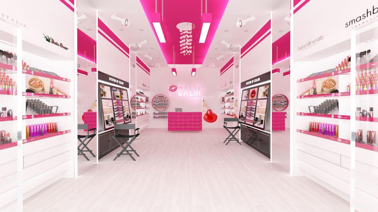تصميم ديكور محل مكياج Store Design Interior Retail Store Interior Design Store Design