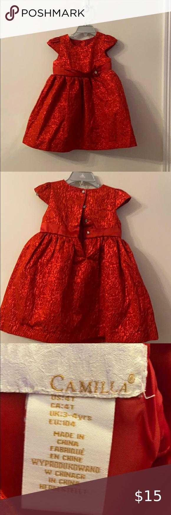 Camilla Red Dress Size 4t Red Dress Beautiful Red Dresses Dresses [ 1740 x 580 Pixel ]