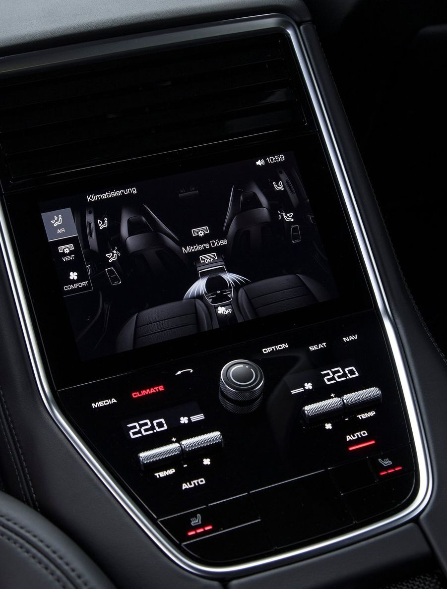 Porsche Panamera 2017 Rear Clim Display Car Interface Pinterest