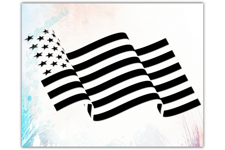Waving American flag svg, Patriotic 4th of july svg in