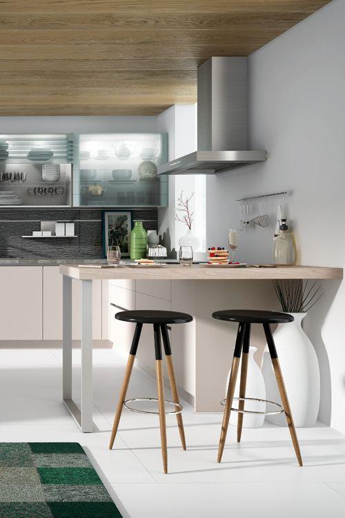 Eine Offene Küche Mit Esstheke Schafft Platz Für Gemeinschaft. #küche # Küchen #offeneküche