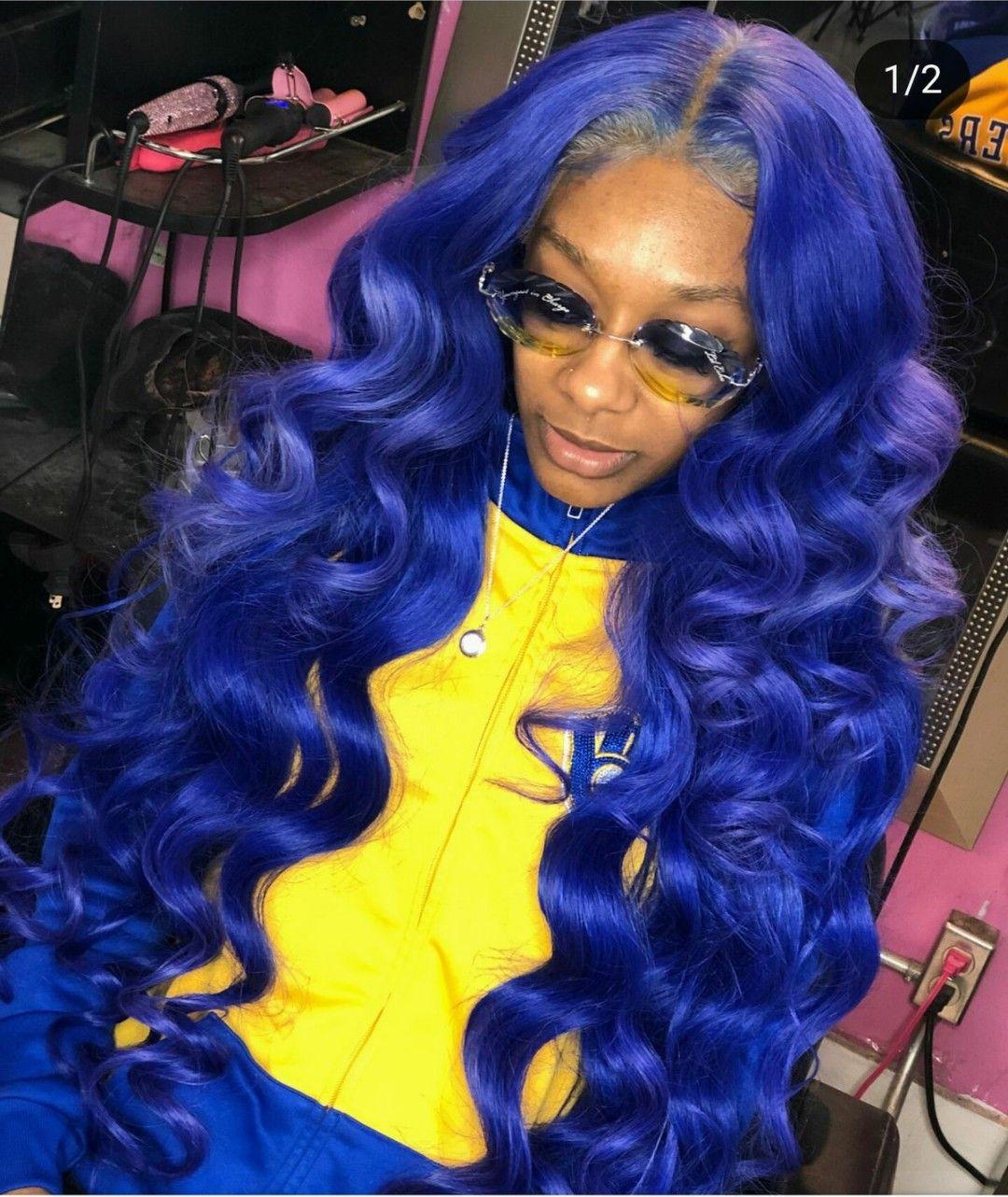 Yayavuitton Hair Styles Blue Hair Lace Hair