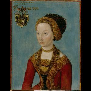 Object creator: Lucas Cranach the Elder Object title / description: Portrait of a Bride Object date: about 1500 - 1506