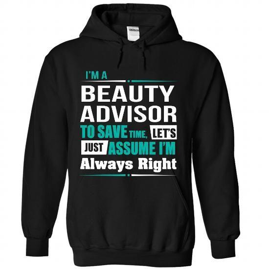 Beauty Advisor - #gifts for boyfriend #gift for teens. CHECKOUT => https://www.sunfrog.com/States/Beauty-Advisor-1683-Black-Hoodie.html?68278