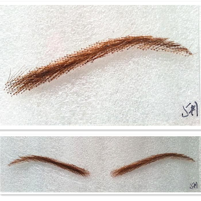 Wholesale Free Shipping Women Style 100 Human Hair False Eyebrows