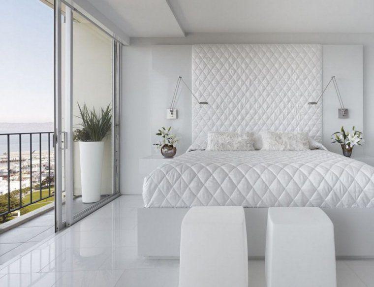 chambre blanche moderne: couverture et tête lit matelassées | DÉCO ...