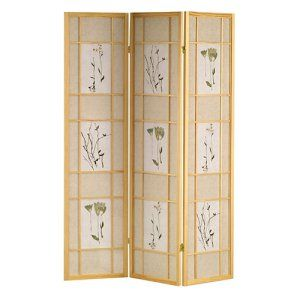 Botanicals Shoji Screen   The Asian Inspired Botanicals Shoji Screen Room  Divider Beautifully Defines A Space. This Screen Features A Wood Frame And  Comes ...