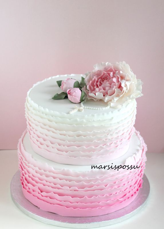 Marsispossu: Kakku rippijuhliin, Confirmation cake | Ombre